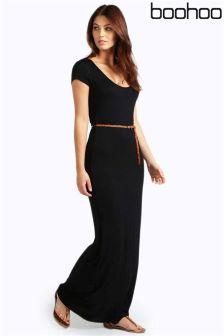 Boohoo Petite Belted Maxi Dress