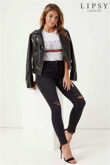 Lipsy Kate Short Length Skinny Ripped Jeans