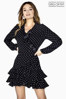 Girls On Film Polka Dots Wrap Dress