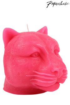 Paperchase Safari Summer leopard head candle