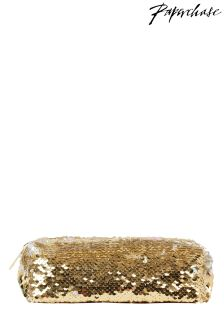 Paperchase Sequin Flat Pencil Case