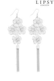 Lipsy Floral crystal Chandelier Earrings