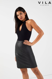 f7d9b48305644 Faux Leather Skirts