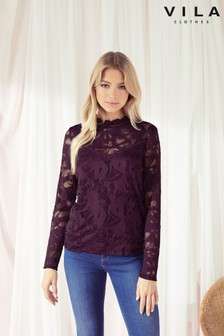 Vila Lace Long Sleeved Top