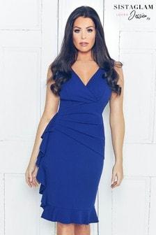 שמלת מעטפת מעוטרת בסרט קישוט של Sistaglam Loves Jessica