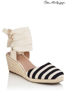 Miss Selfridge Stripe Closed Toe Espadrilles Sandals