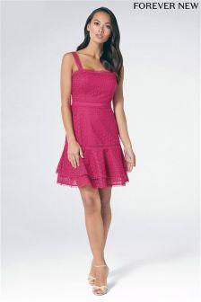 Короткое приталенное платье с кружевом Forever New