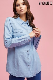 Missguided Regular Fit Denim Shirts