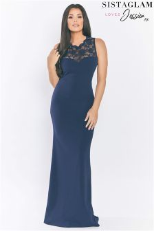 Sistaglam Loves Jessica Sweetheart Neckline Maxi Dress