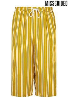 Missguided Curve Drawstring Stripe Culottes