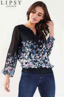 Lipsy Chain Detail Printed Blouse