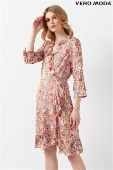 Vero Moda Floral Print Wrap Dress