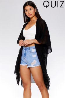Quiz Frill Side Kimono
