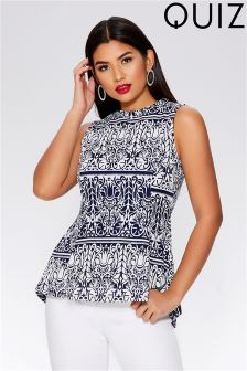 Quiz Printed Sleeveless Top