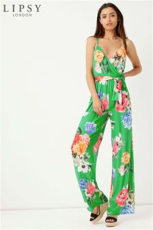 Lipsy Printed Cami Wrap Jumpsuit