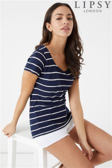 Lipsy Stripe Scoop Neck Tee