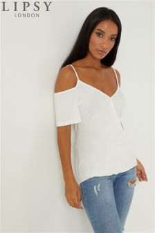 Lipsy Wrap Cold Shoulder Cami Top