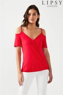 0773677e7df196 Women s tops Lipsy T-Shirts Cold Shoulder Coldshoulder Tshirts ...