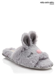 Head Over Heels Bunny Face Mules Slippers