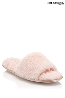 Head Over Heels Faux Fur Slider Slippers