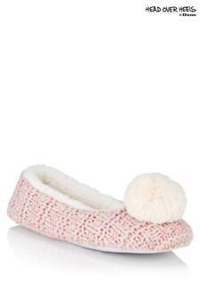 Head Over Heels Pom Pom Ballet Slippers