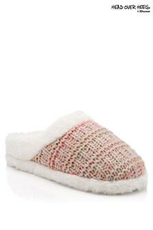 Head Over Heels Knit Mule Slippers