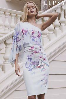 Lipsy Lucia Print One Shoulder Bodycon Dress