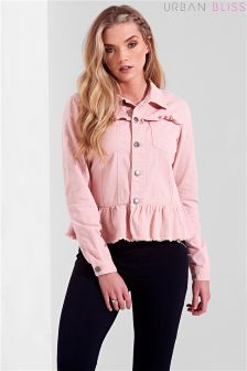 Urban Bliss Peplum Denim Jacket
