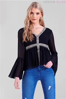 Urban Bliss Tassle Tape Top