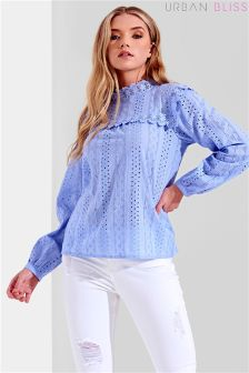 Urban Bliss York Crochet Trim Broderie Top