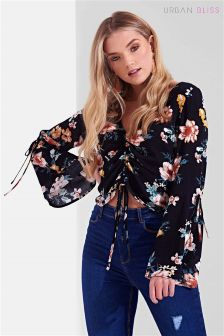 Urban Bliss Floral Drawstring Blouse