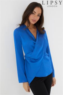 Lipsy Satin Asymmetric Blouse