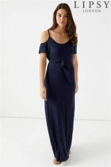 Lipsy Cold Shoulder Cami Maxi Dress