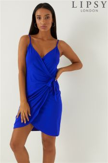 Lipsy Wrap Tie Cami Dress