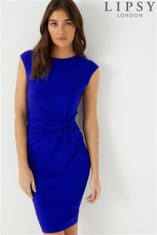 Lipsy Sleeveless Ruched Jersey Dress