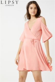 Lipsy Cold Shoulder Wrap Dress