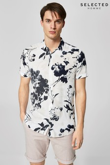 Selected Homme Print Short Sleeve Shirt
