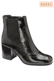 Ravel Leather Chelsea Boots