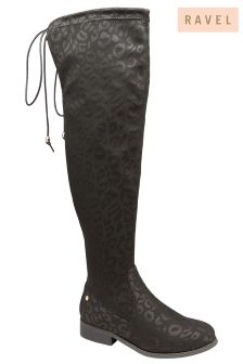 Ravel Leopard Over The Knee Boot