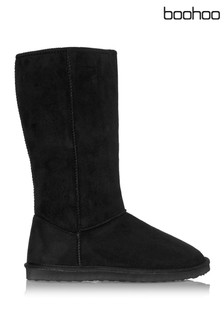 Boohoo Tall Faux Sheepskin Boot