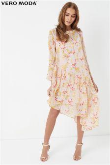 Vero Moda Asymmetric Print Dress