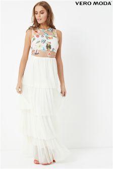 Vero Moda Mesh Maxi Dress