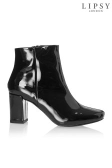 Lipsy Patent Block Heel Ankle Boots