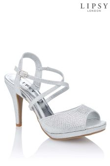 Lipsy Platform Diamanté Sandals