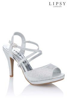 Lipsy Platform Diamanté Sandals