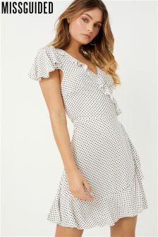 Missguided Polka Dot Tea Dress