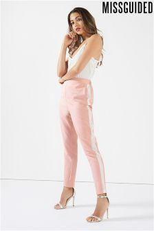 Missguided Side Stripe Cigarette Trousers