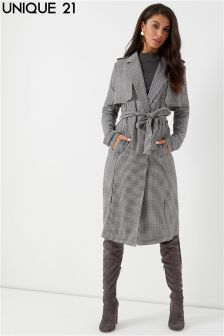 Unique 21 Belted Trench Coat