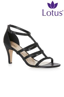 Lotus Heeled Sandals