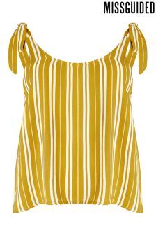 Missguided Curve Stripe Cami Top
